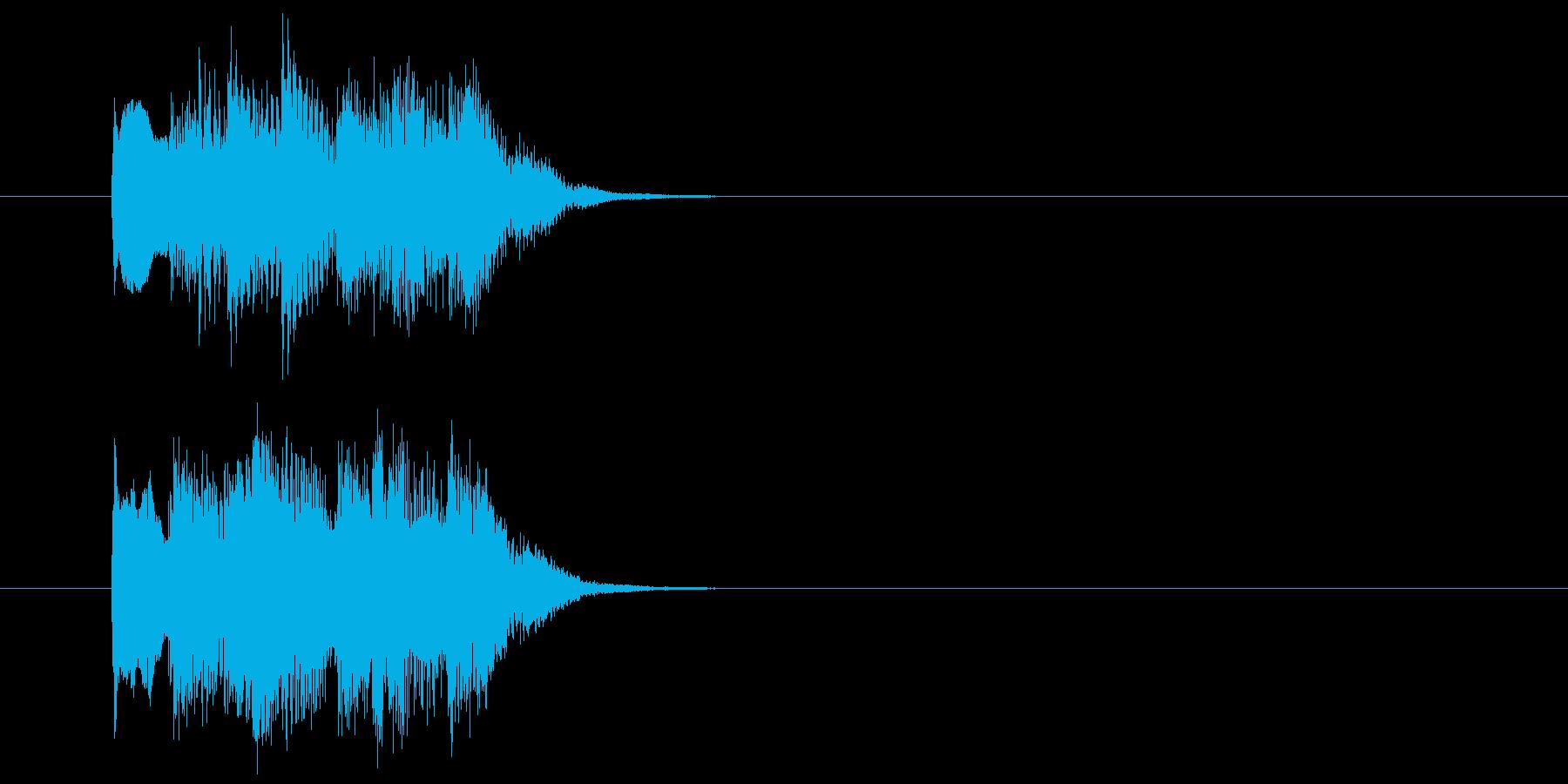 ピアノとシンセサイザーのサウンドロゴ の再生済みの波形