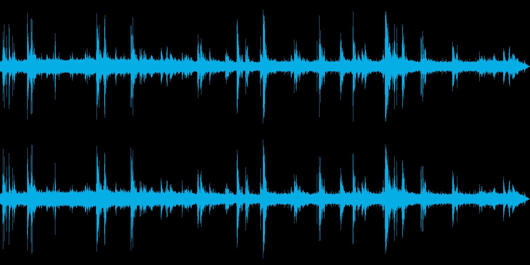 [生録音]大雷(ゲリラ豪雨)の環境音02の再生済みの波形