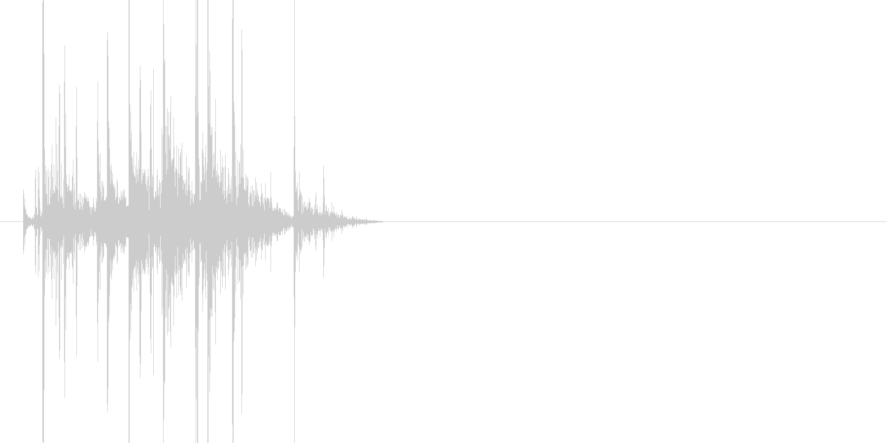 ベキベキッ(骨を鳴らす、骨が折れる)の未再生の波形
