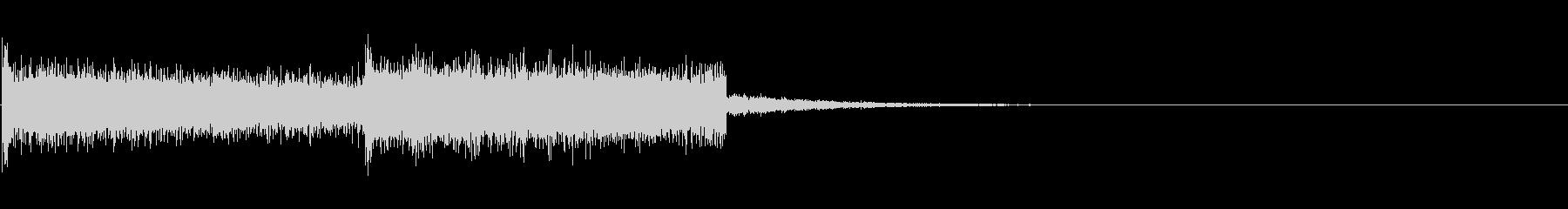 8bitなジングルの未再生の波形