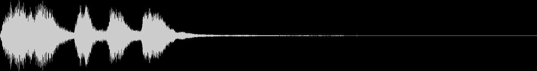 ファンファーレ ゲット シンプル 9の未再生の波形