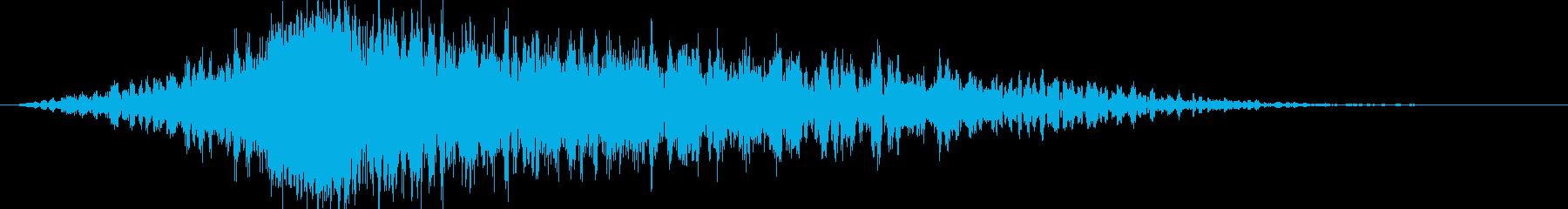 シューどん:迫力のオープニングシーン5の再生済みの波形