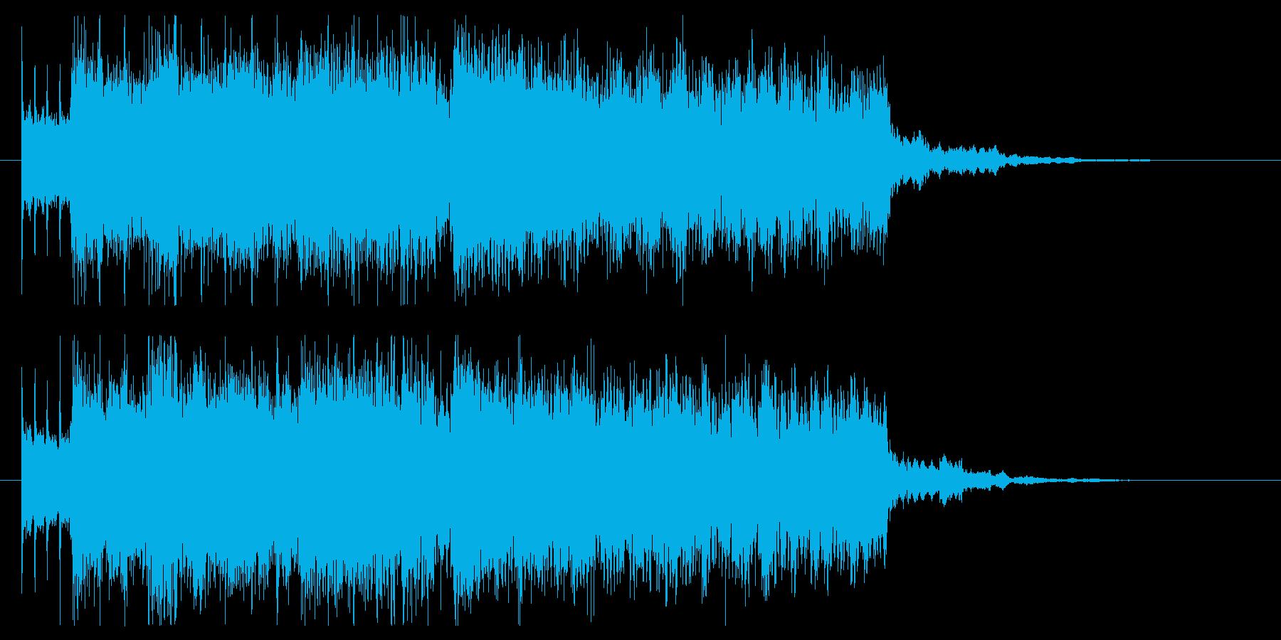 疾走感溢れるエモいロックジングルの再生済みの波形