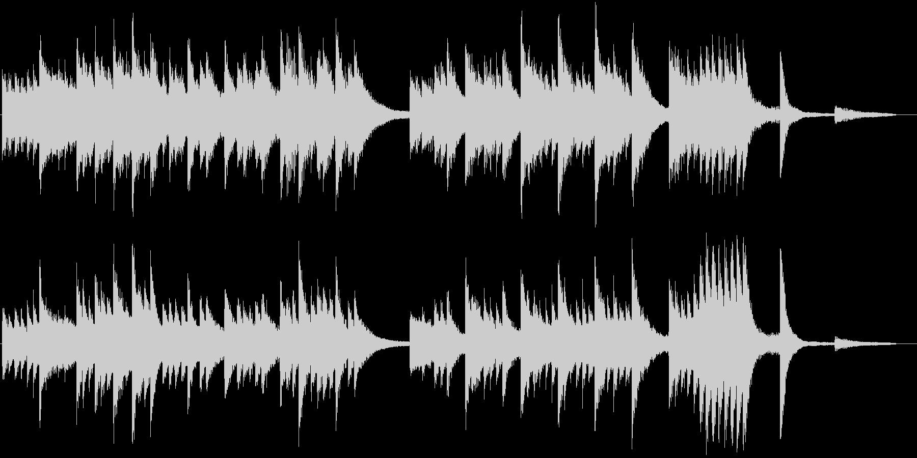 和やかなメロディの春らんまんピアノBGMの未再生の波形