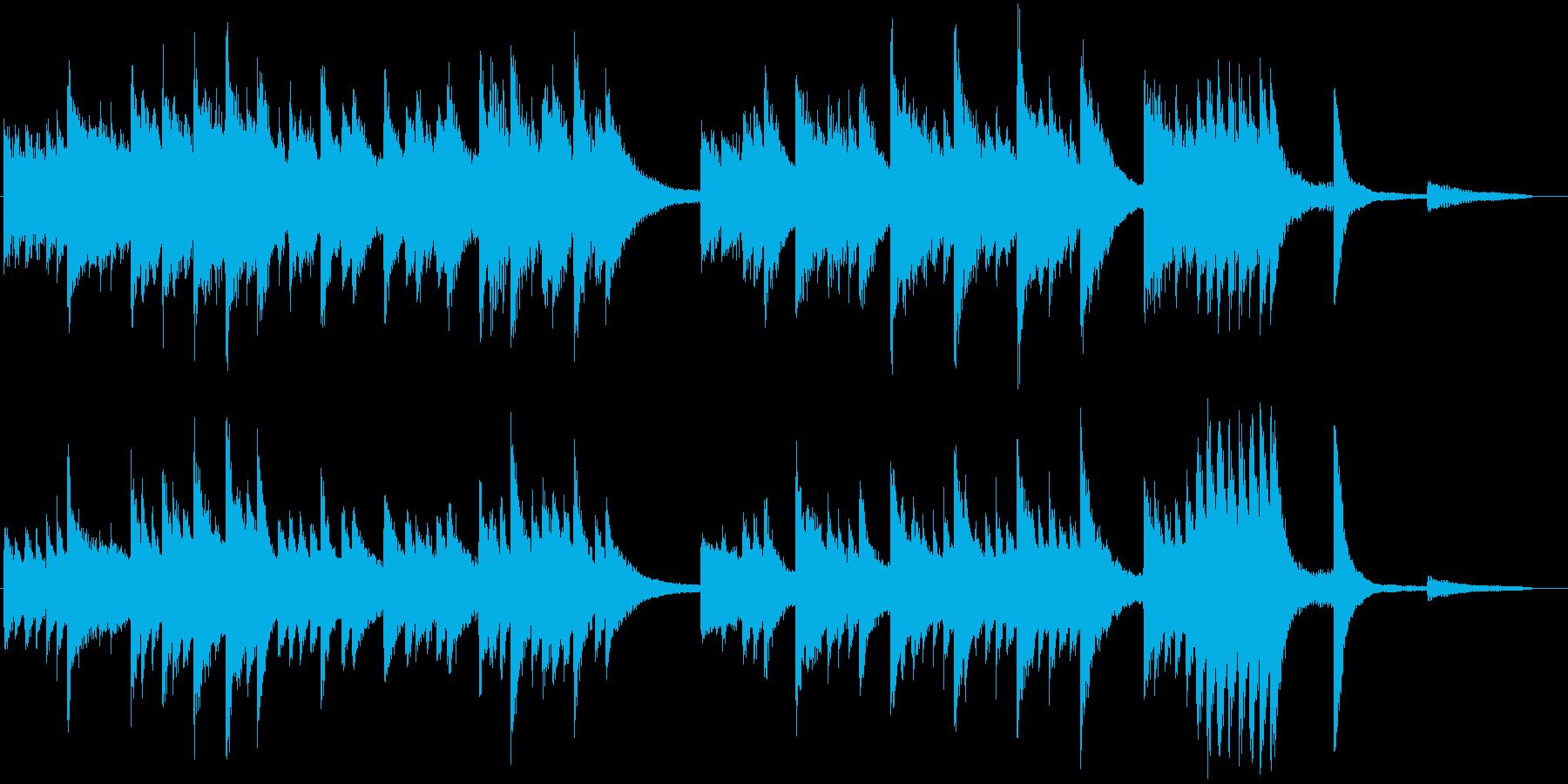 和やかなメロディの春らんまんピアノBGMの再生済みの波形