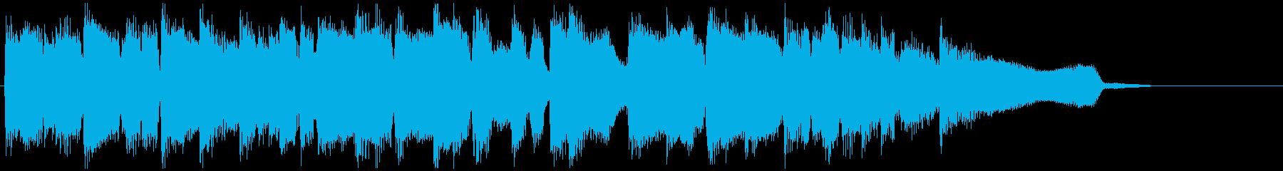 15秒CM向け、ふんわりアコースティックの再生済みの波形