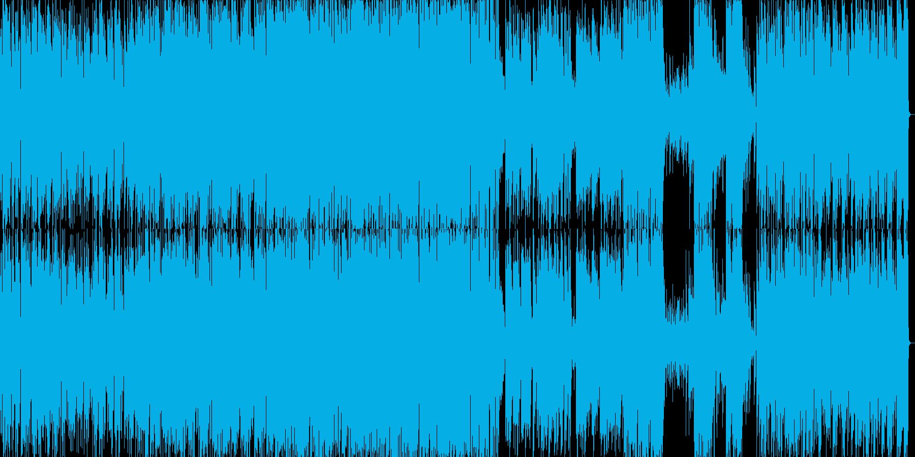 スタンダードジャズの軽快なピアノトリオの再生済みの波形