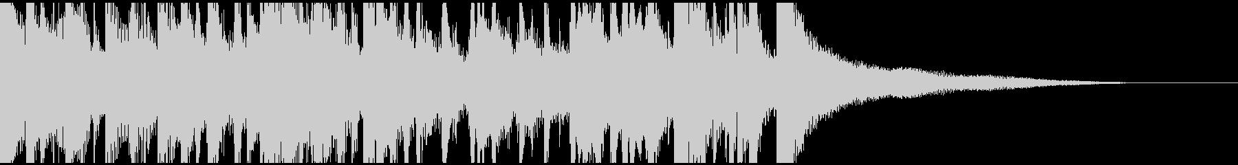 生音バンジョーの軽快なジングルの未再生の波形