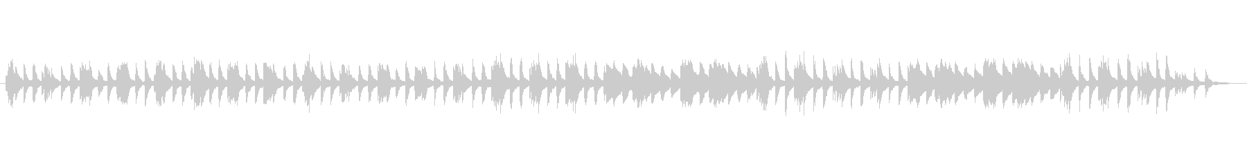 クラシックピアノ、チェルニーNo.48の未再生の波形