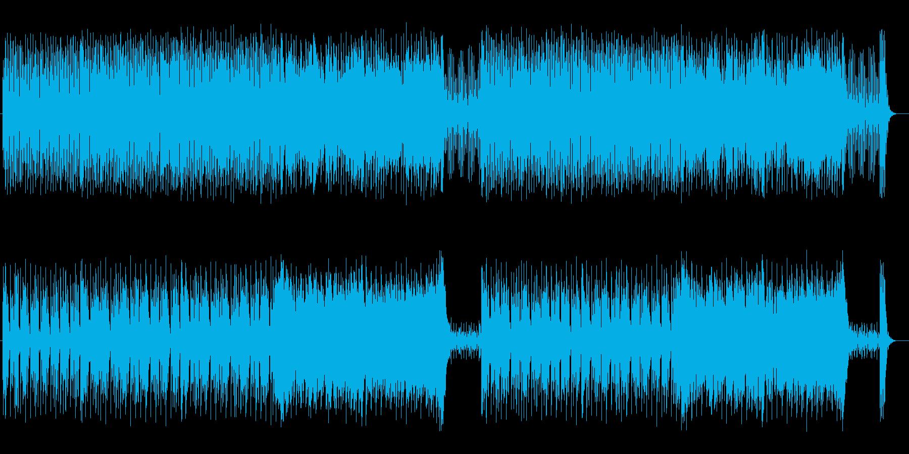 アップテンポで活気あふれるBGMの再生済みの波形