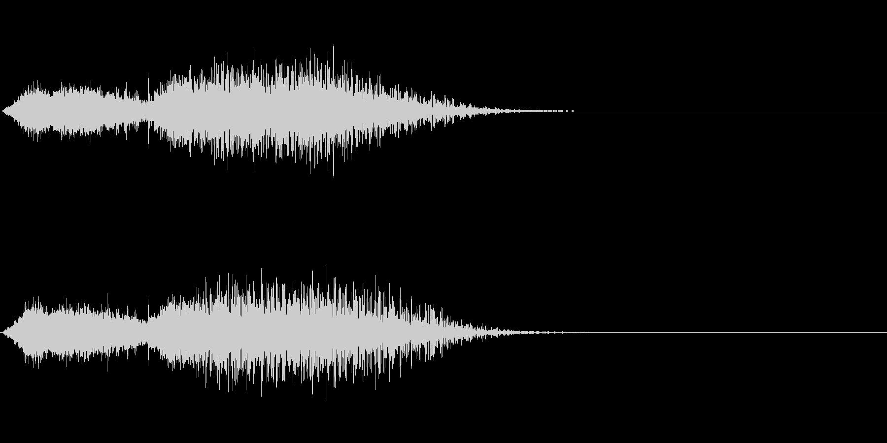 タイトル/ロゴ/テロップ ⑥ 鐘・水の未再生の波形