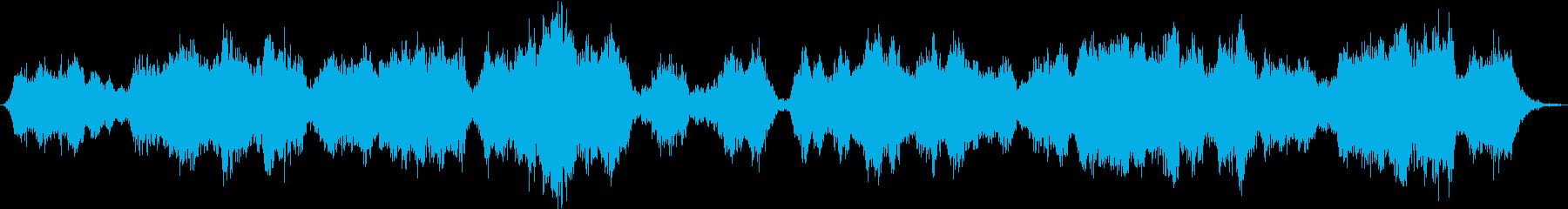 宇宙空間をイメージしたバラードの再生済みの波形