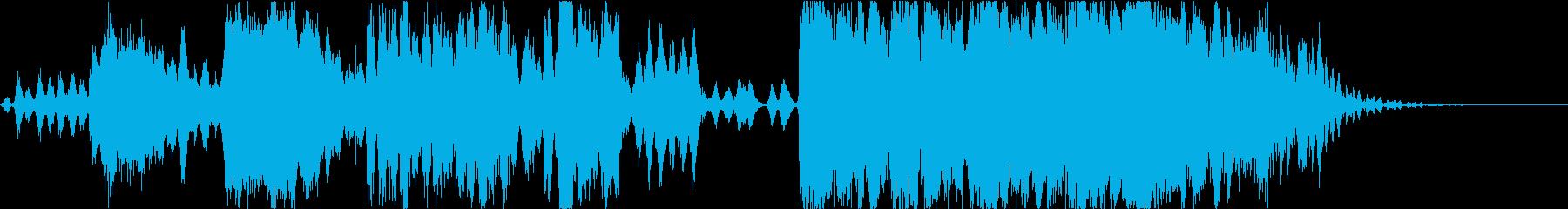 ストリングスのペンタミニマル的楽曲の再生済みの波形