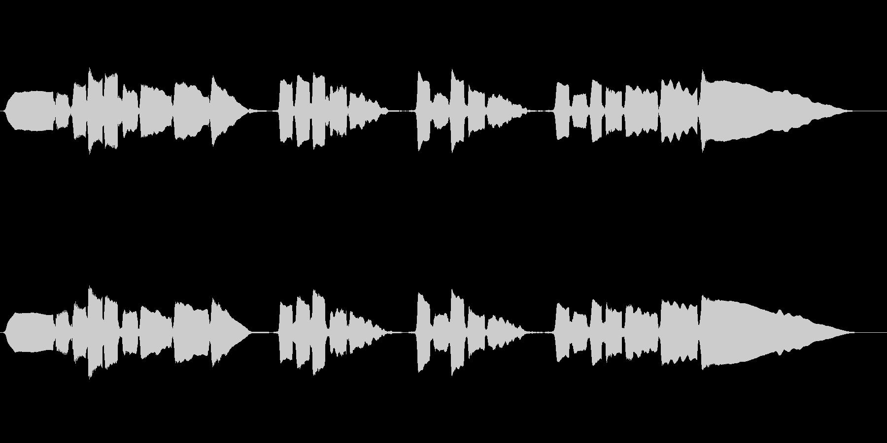 サックスのソロ演奏 切ない系の未再生の波形