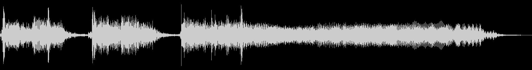 インパクトあるロックなジングル02の未再生の波形