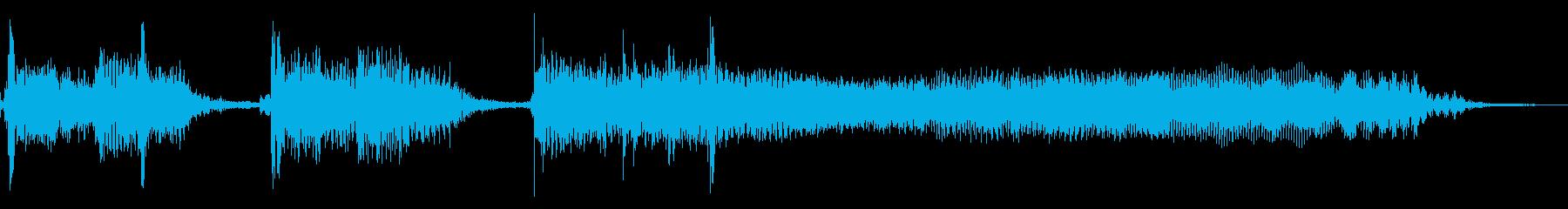 インパクトあるロックなジングル02の再生済みの波形