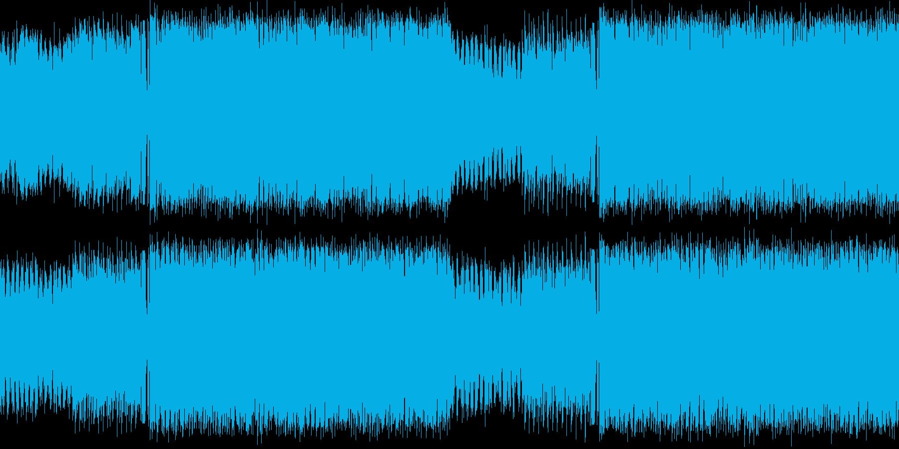 華やかで感動的なハウスループの再生済みの波形