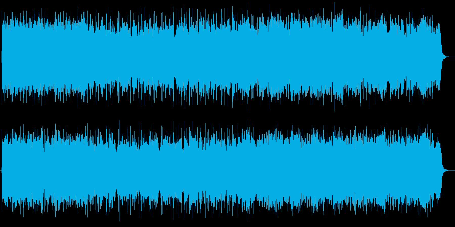 明るく雄大なミュージックの再生済みの波形