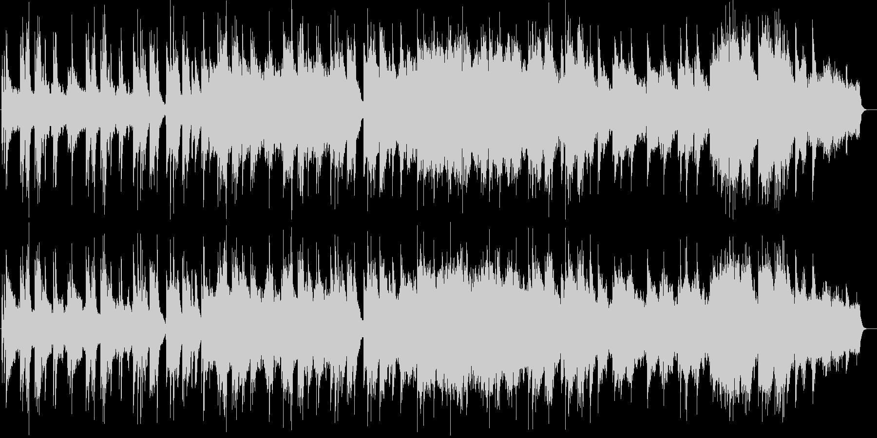ピアノとギターの落ち着きのある曲の未再生の波形