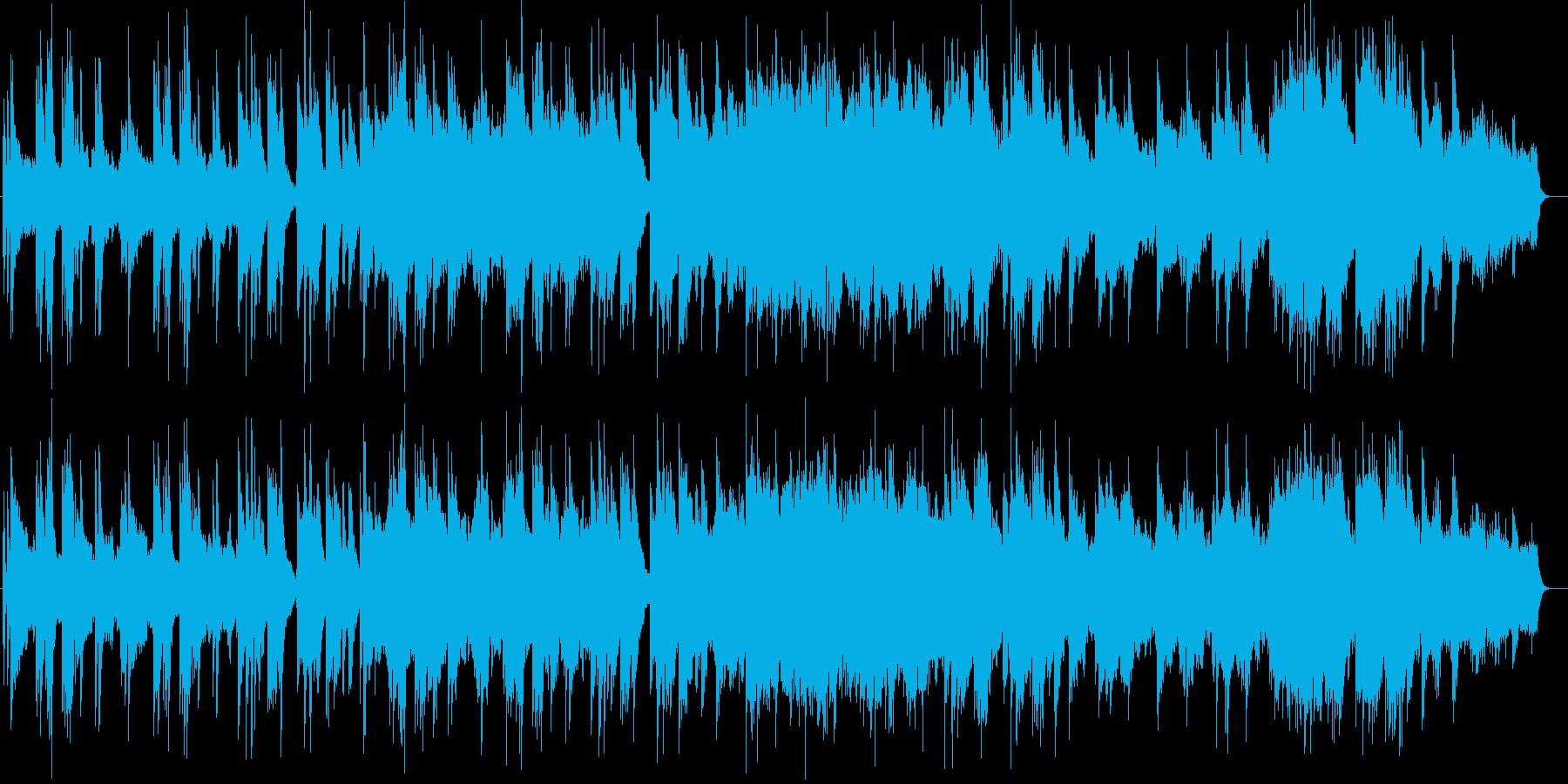 ピアノとギターの落ち着きのある曲の再生済みの波形