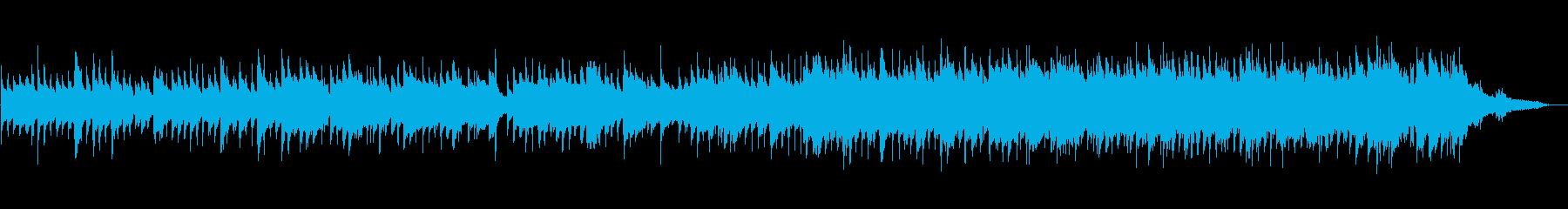 ふんわりとした安らぎのアコースティック曲の再生済みの波形