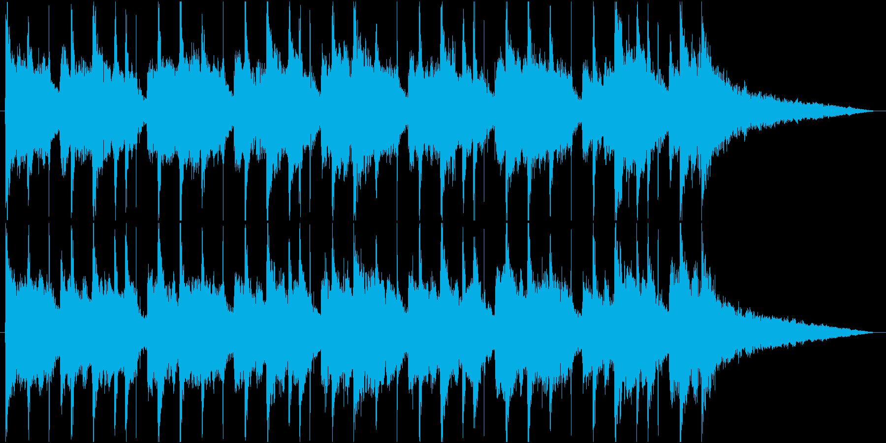 ポップで浮遊感のあるジングルの再生済みの波形