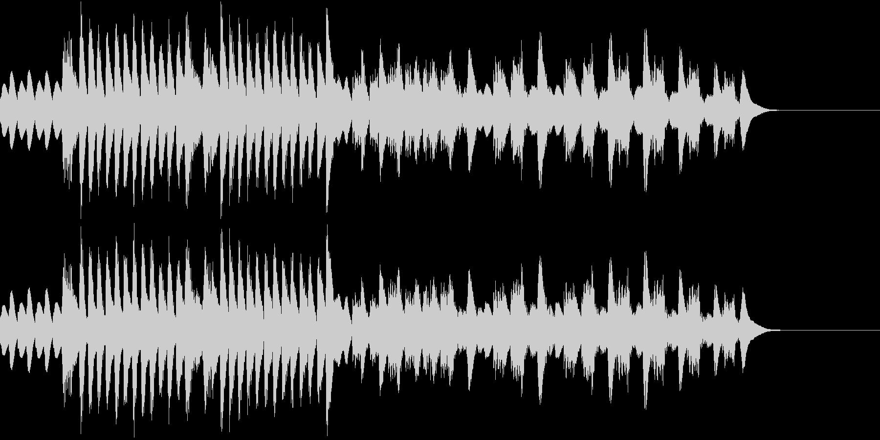 叙情小曲集 妖精トロルの行進 マリンバの未再生の波形