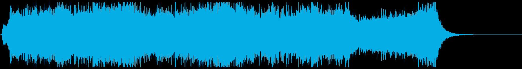 戦隊ヒーロー参上のオーケストラジングルの再生済みの波形