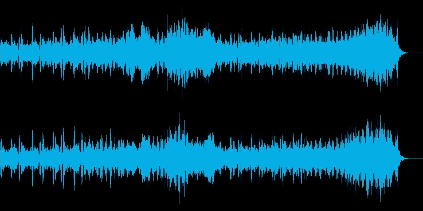 怪しくて軽快なハロウィンの曲の再生済みの波形