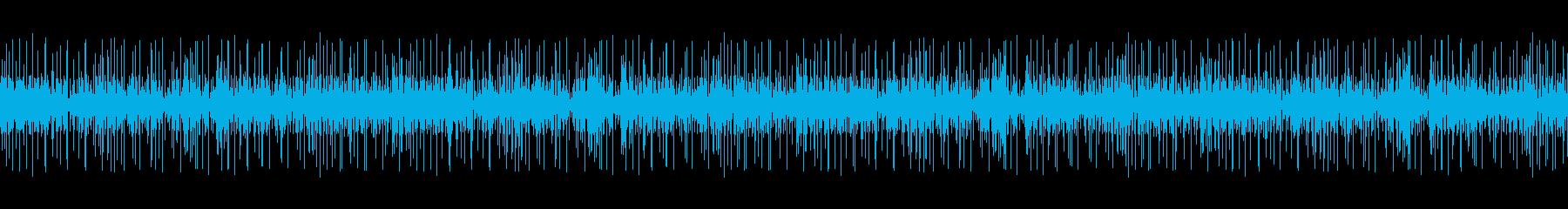 レコードノイズ:ノイズが強いバージョンの再生済みの波形