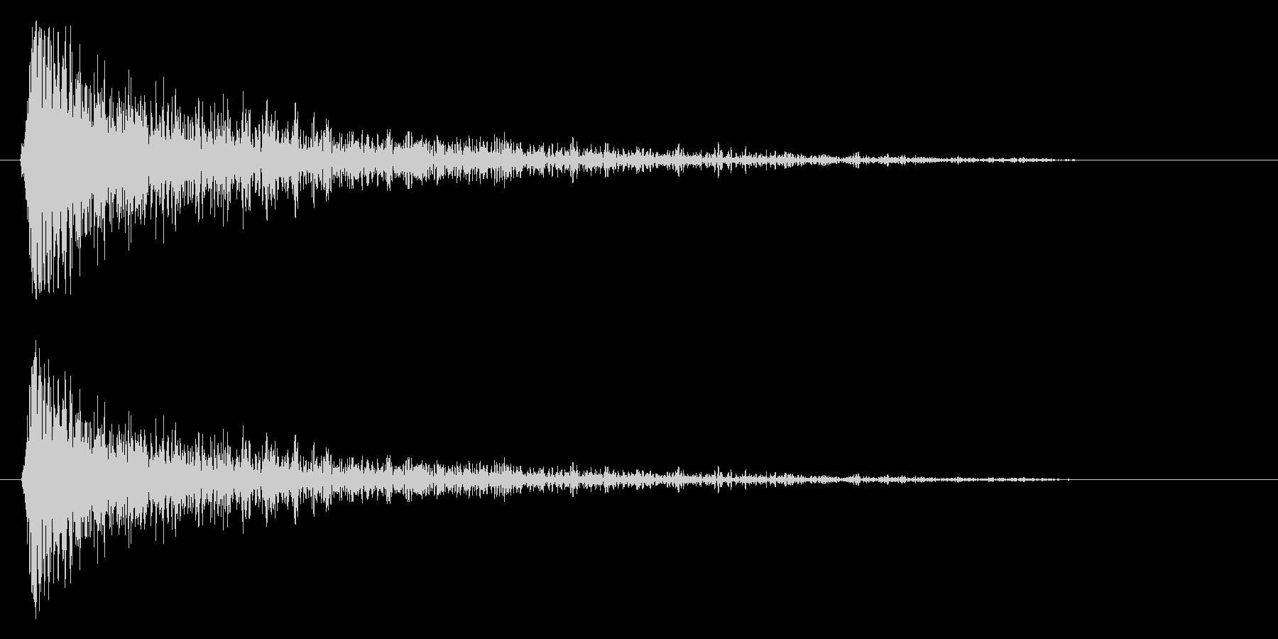 スネア音(短め・高音)の未再生の波形
