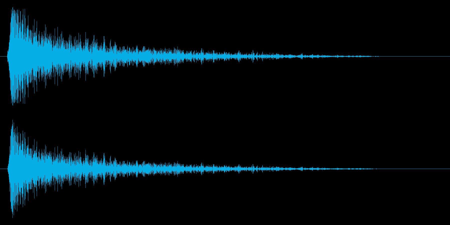スネア音(短め・高音)の再生済みの波形