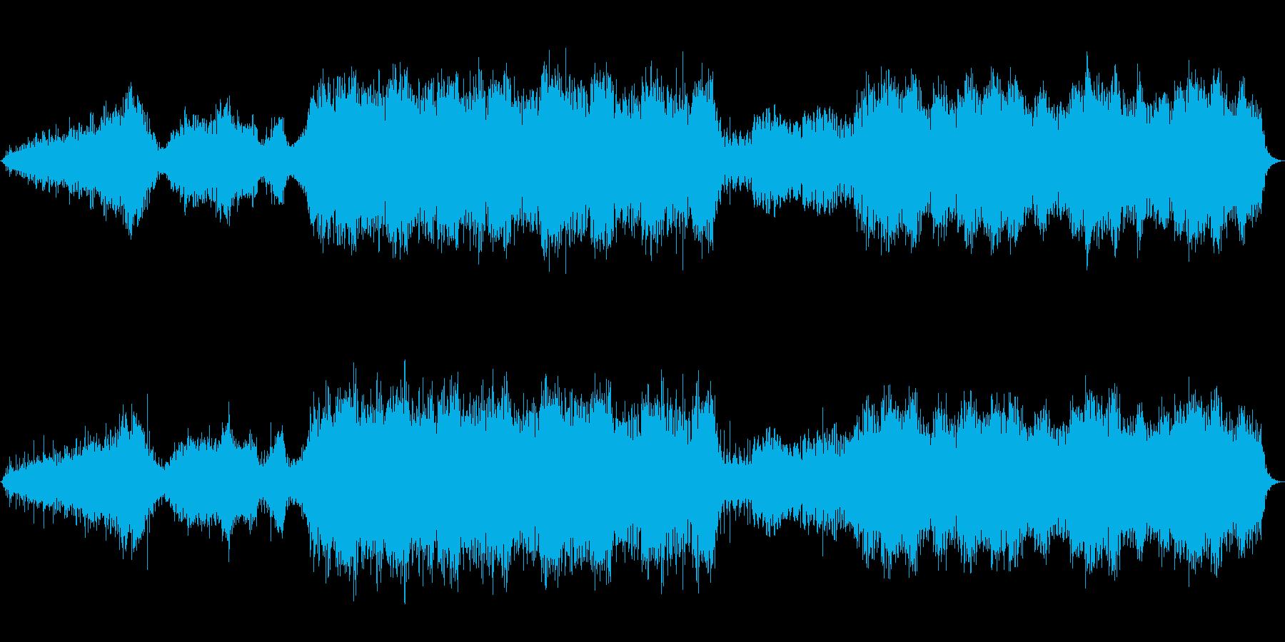 水の音とソルフェジオ周波数の癒しのBGMの再生済みの波形
