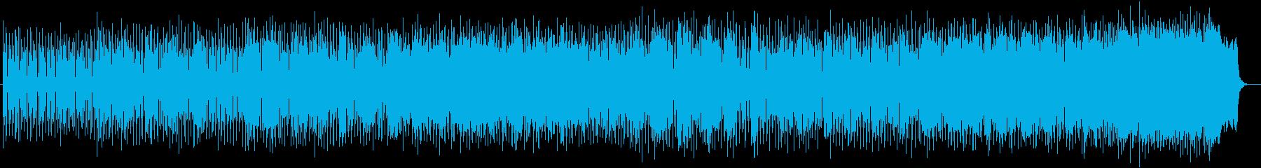 シンセが独特なミュージックの再生済みの波形