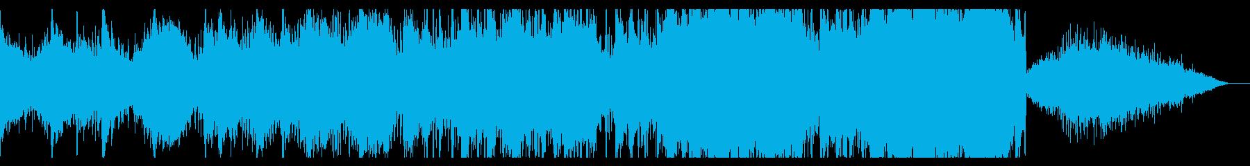 エピックでダークなシネマティックBGMの再生済みの波形