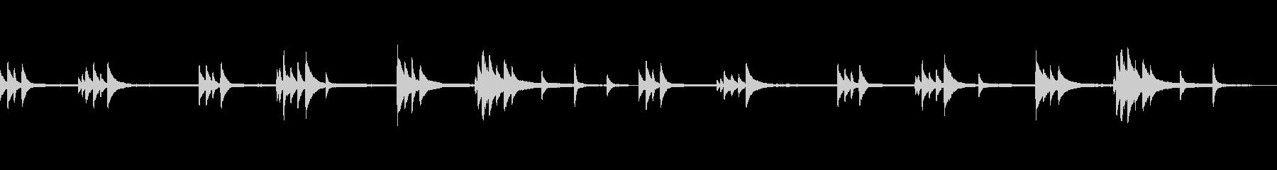 【劇伴】複雑な心情/余白の多いピアノソロの未再生の波形