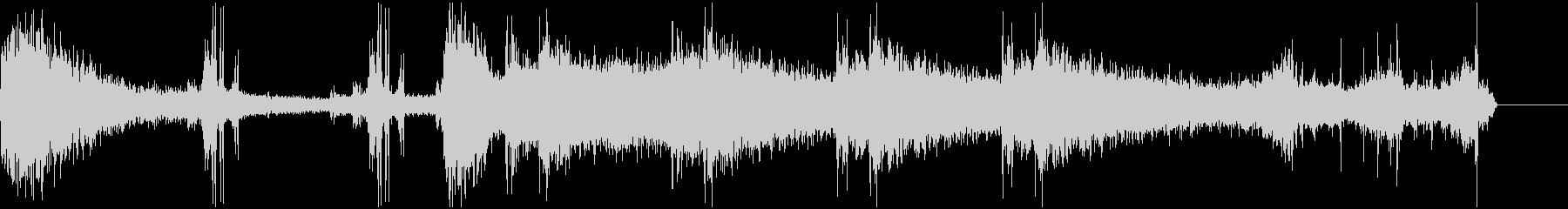 ゴーストの足音 不気味な効果音の未再生の波形