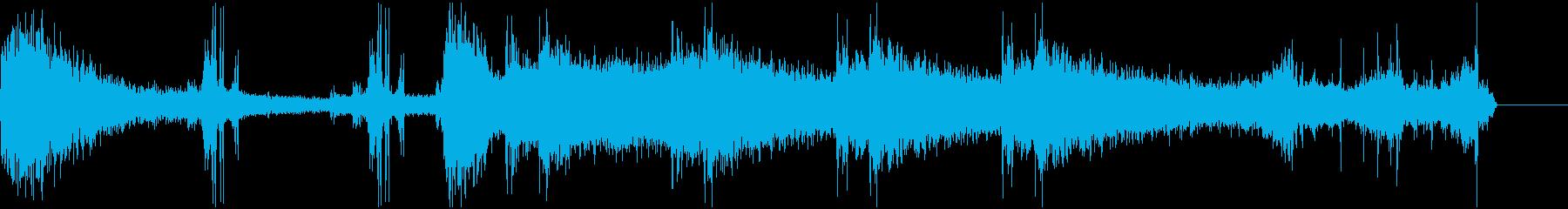 ゴーストの足音 不気味な効果音の再生済みの波形