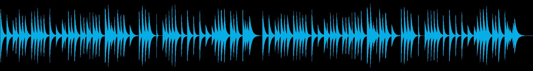 亡き王女のためのパヴァーヌ 18弁オルゴの再生済みの波形