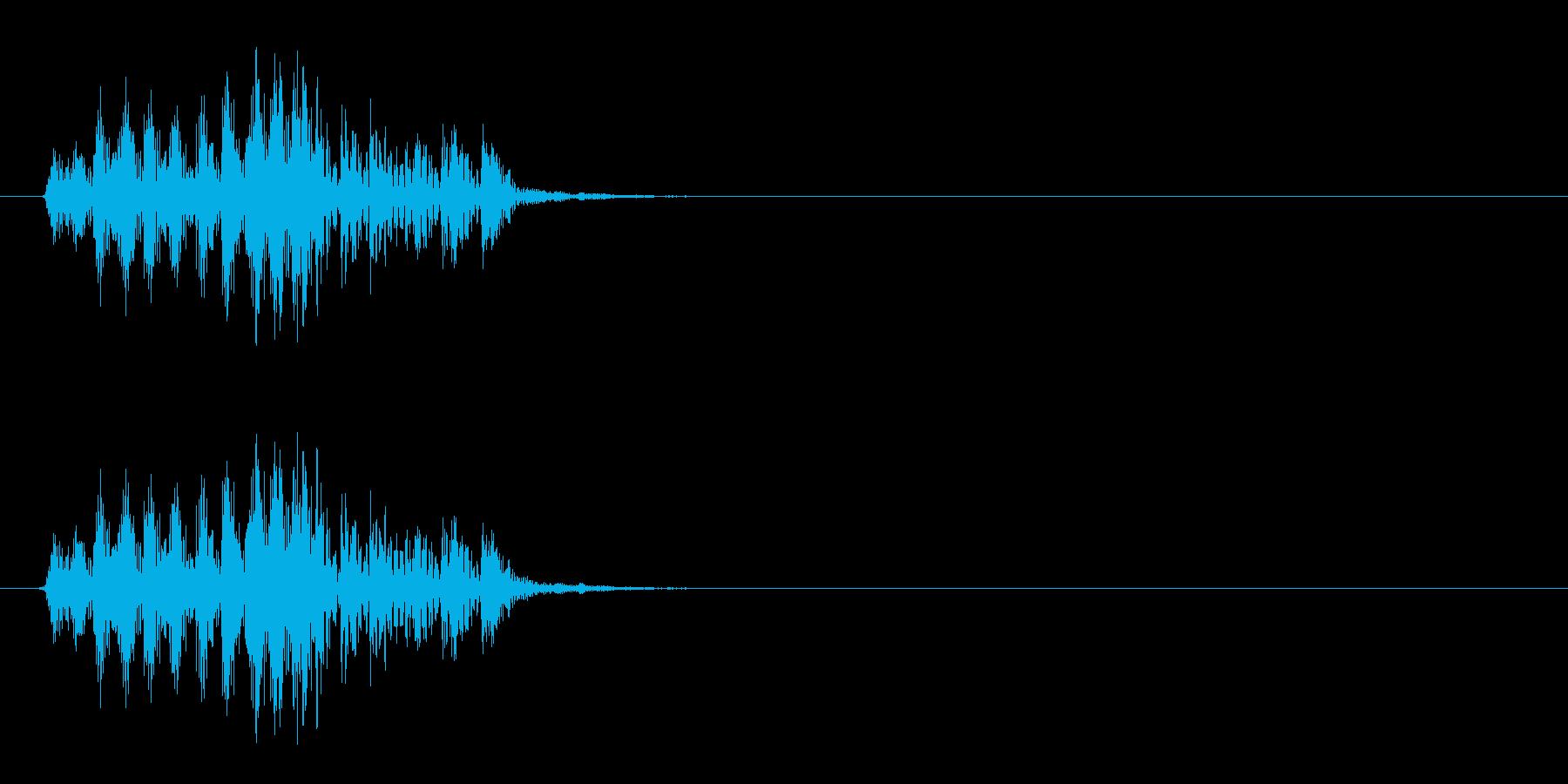 [生録音]ゲップ音01(ショート)の再生済みの波形