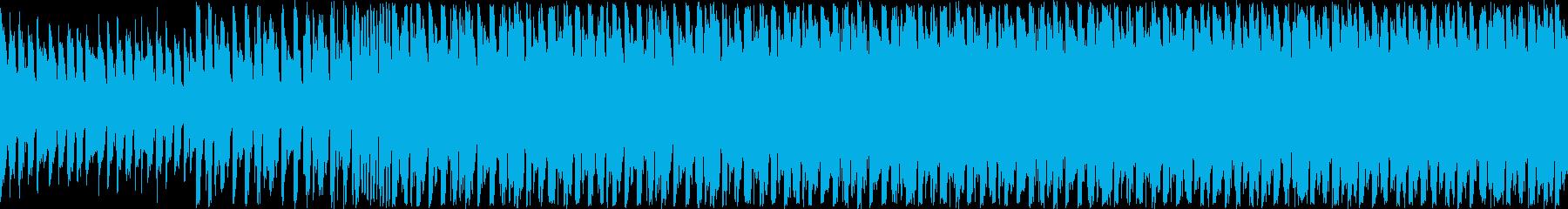 ピアノとバイオリンの爽快さのあるループ曲の再生済みの波形