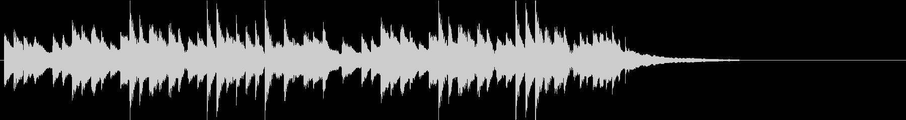 ピアノによるほのぼの楽しいポップスの未再生の波形
