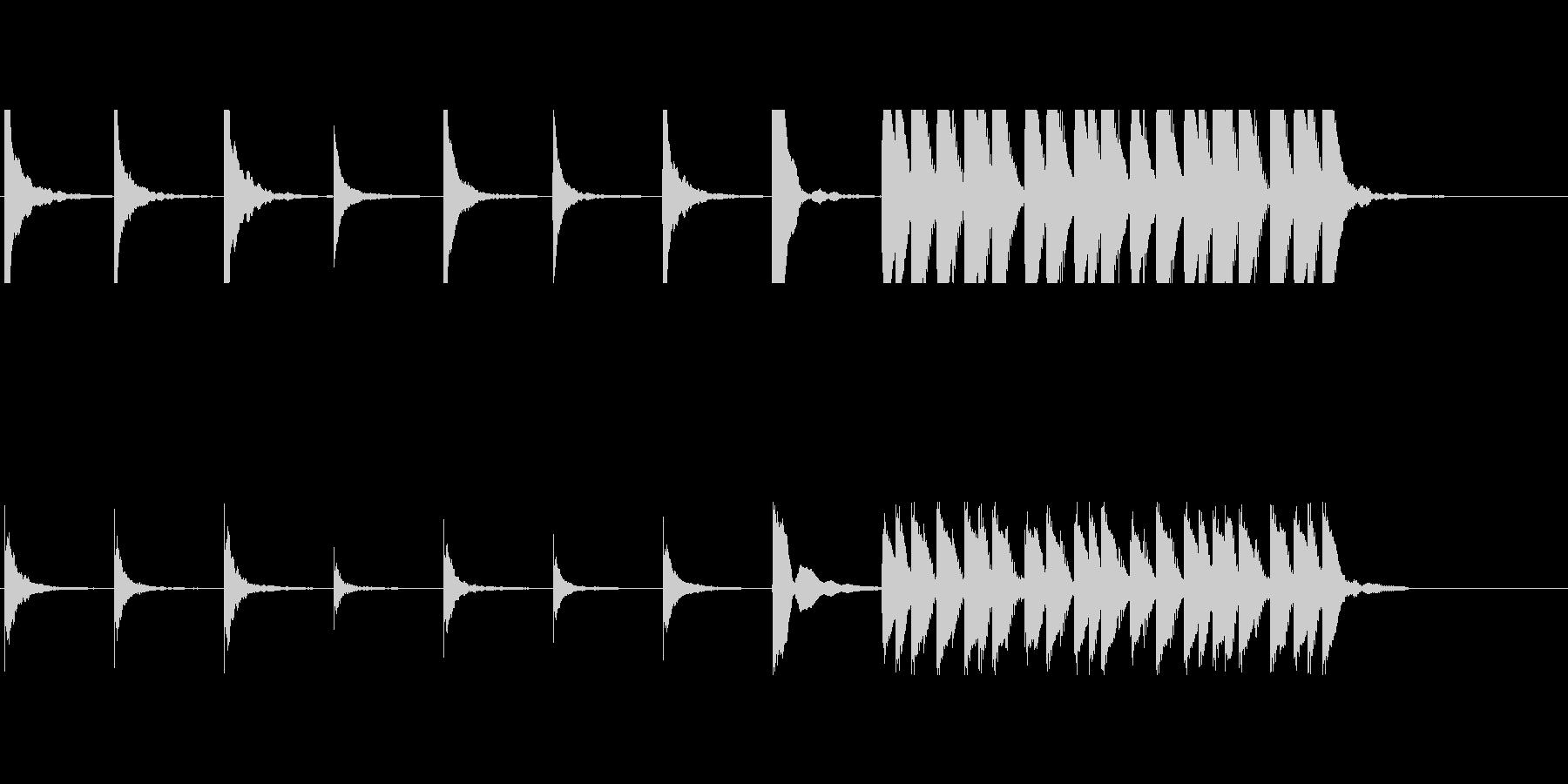 アフリカン木琴によるコミカルな音の未再生の波形