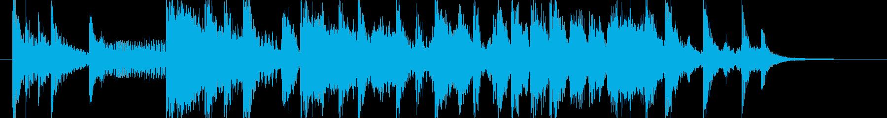 ブラス主体のファンキーなジングルの再生済みの波形