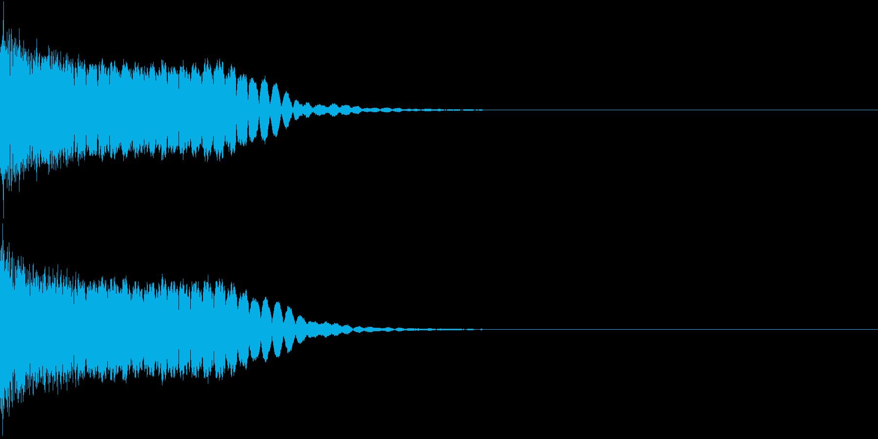 光る キラリ キューン 06の再生済みの波形