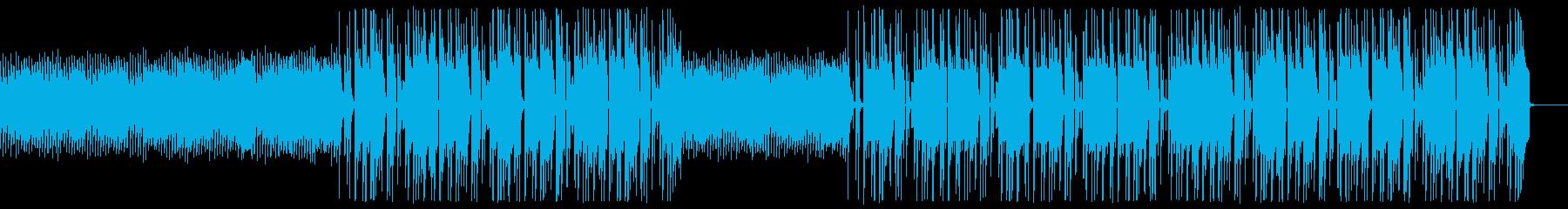 EDMチックなヒップホップの再生済みの波形