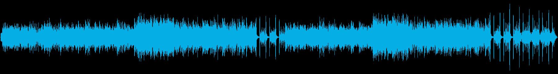 雨の日をイメージしたボサノバナンバーの再生済みの波形