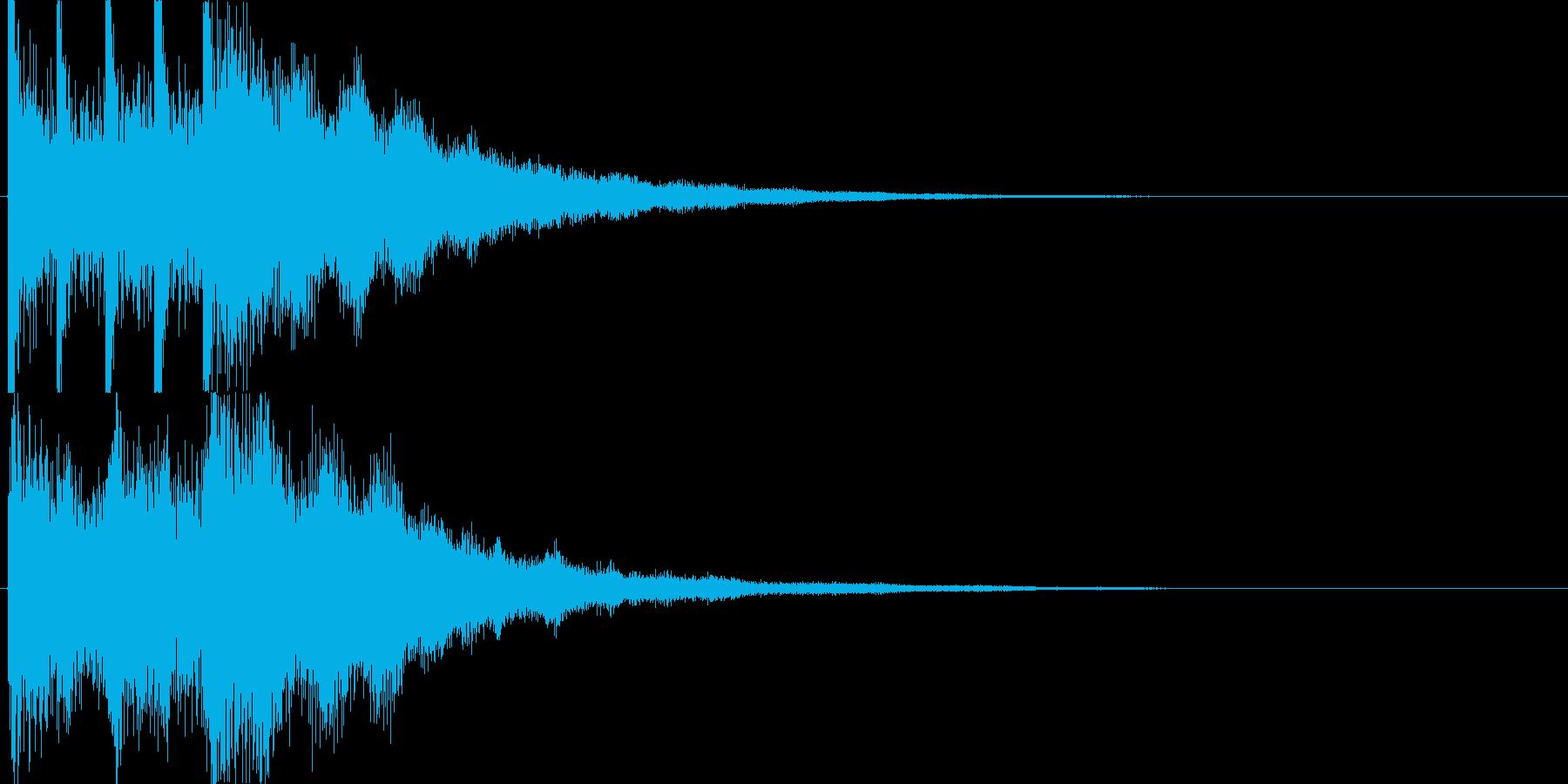 高音質煌めき系ジングル曲可愛くキラの再生済みの波形