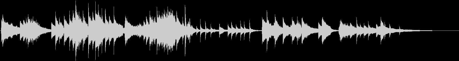 前奏曲風のピアノソロ即興演奏の未再生の波形