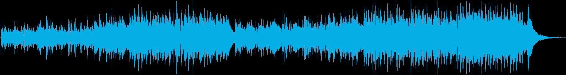 ゆったりリラックスできるアコースティックの再生済みの波形